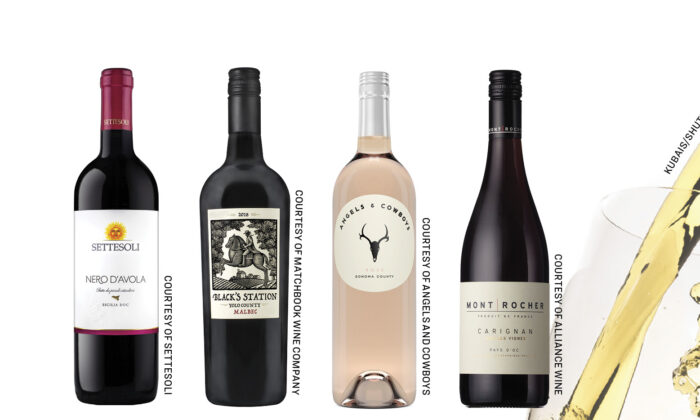 A selection of $20-and-under wines.