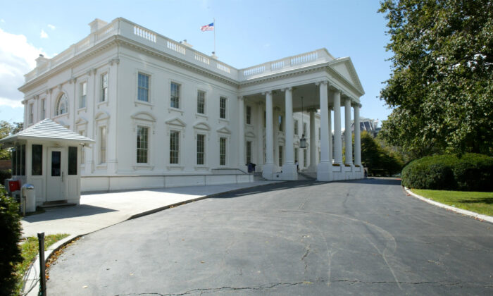 The exterior of the White House is seen in Washington on Oct. 2, 2003. (Alex Wong/Getty Images)