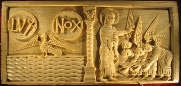 creations-first-day-ivory panel cathedral of salerno c. 1084