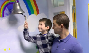 5-Year-Old Rings End-of-Treatment Bell After Undergoing Over Three Years of Chemotherapy
