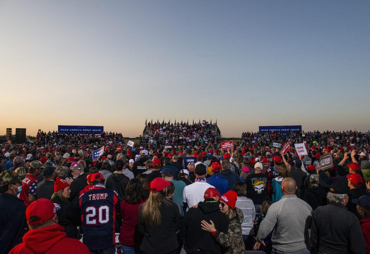 Donald Trump Campaigns In Northern Minnesota
