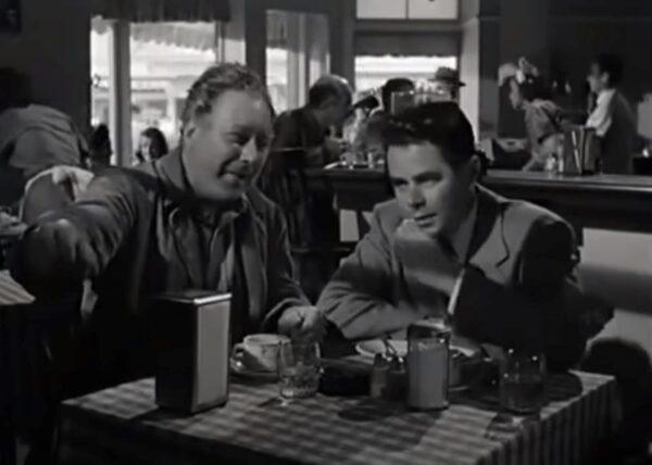 two men in a diner