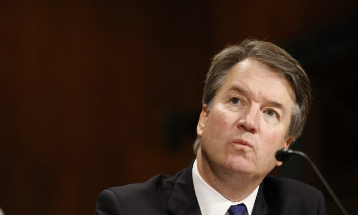 Supreme Court nominee Judge Brett Kavanaugh speaks at the Senate Judiciary Committee hearing on the nomination of Kavanaugh to be an associate justice of the Supreme Court of the United States, on Capitol Hill in Washington on Sept. 27, 2018. (Michael Reynolds/Pool/Getty Images)