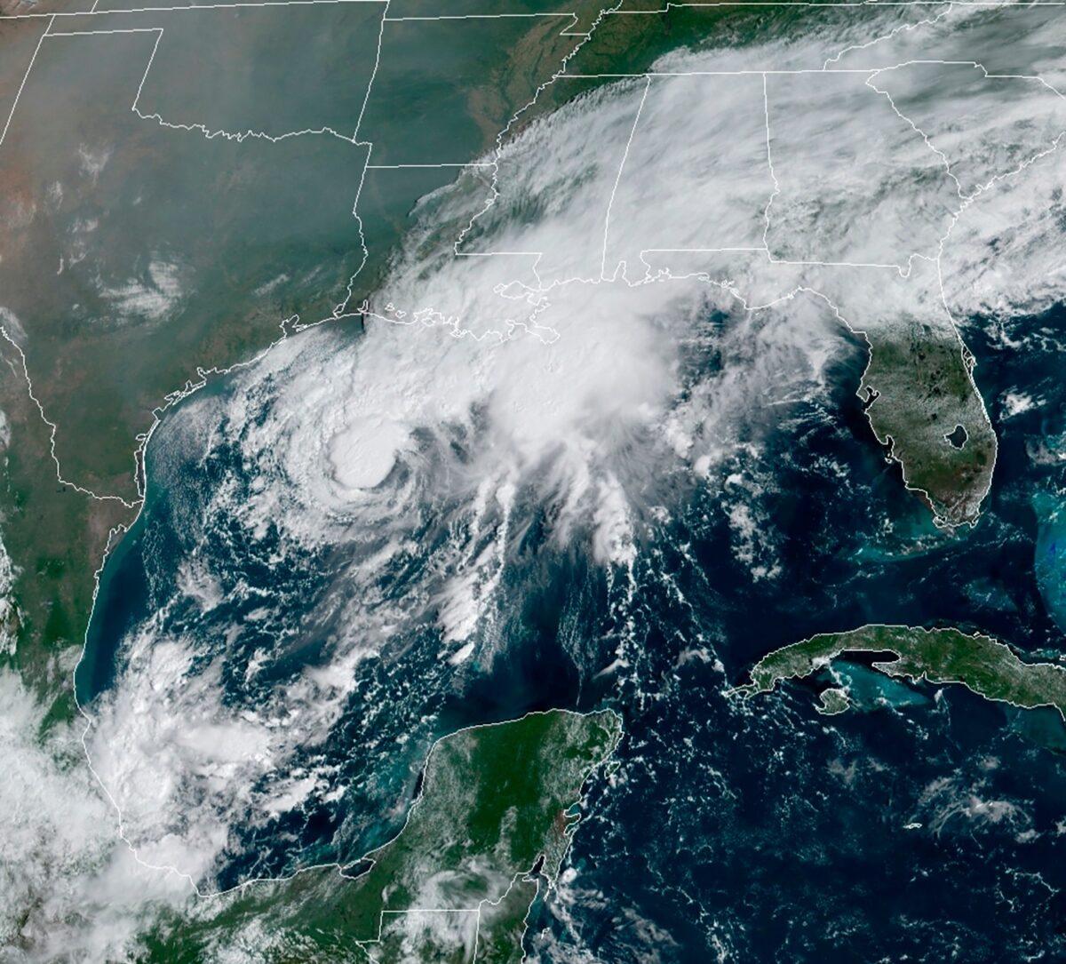 GOES-16 GeoColor satellite image