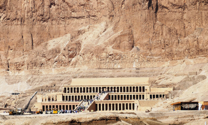 Hatshepsut, the second female pharaoh in Egypt, decided to build a funerary temple in Luxor instead of a tomb. (Courtesy of Phil Allen)