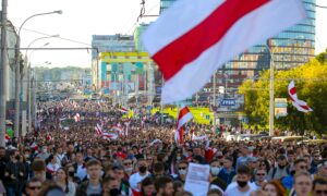 March of 100,000 Marks Week 7 of Belarus Protests
