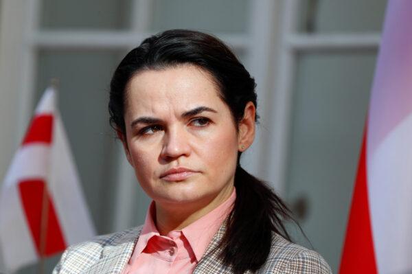 Belarusian opposition leader Sviatlana Tsikhanouskaya