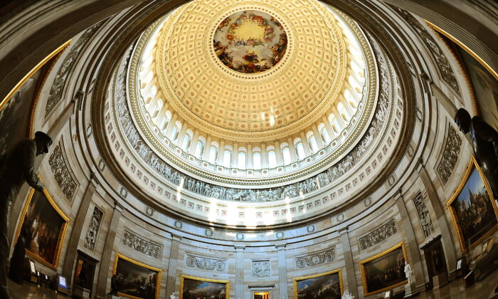 The Rotunda of the US Capitol is seen on Capitol Hill in Washington, on July 28, 2009. (Karen Bleier/AFP via Getty Images)