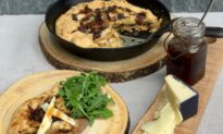 Apple Pie Goes Savory: Rustic Skillet Pie With Bacon, Cheddar, and Cider Syrup