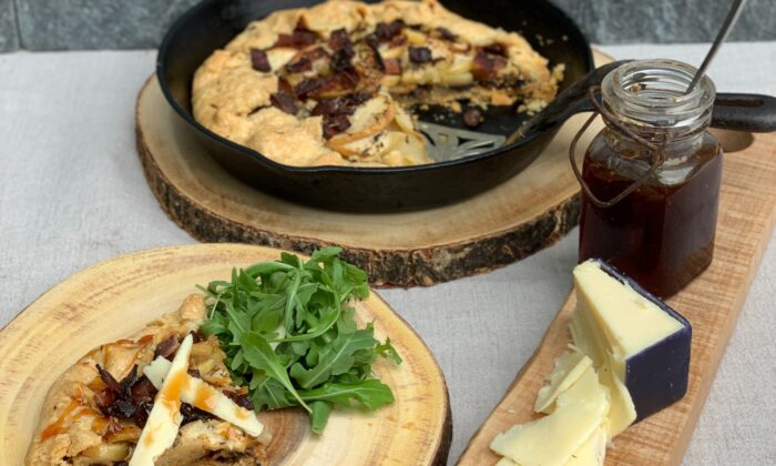 Serve this sweet and savory pie with aged cheddar, cider syrup, and an arugula salad for a perfect autumn meal. (Cardinale Montano)