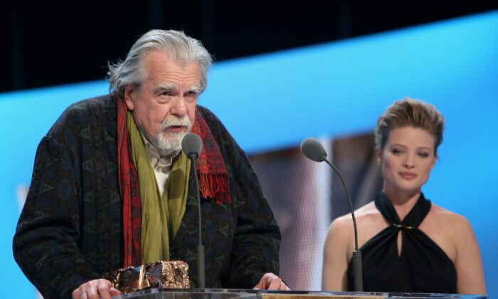 Michael Lonsdale (L) attends the 36th Cesar Film Awards at Theatre du Chatelet, in Paris, France, on Feb. 25, 2011. (Marc Ausset-Lacroix/Getty Images)