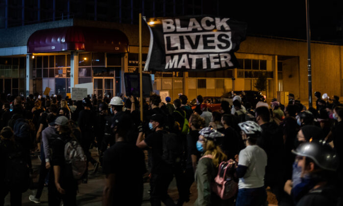 Black Lives Matter protesters march in Rochester, N.Y., on Sept. 7, 2020. (Maranie R. Staab/AFP via Getty Images)