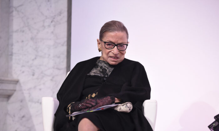 Supreme Court Justice Ruth Bader Ginsburg at the 2020 DVF Awards in Washington on Feb. 19, 2020. (Dimitrios Kambouris/Getty Images for DVF)
