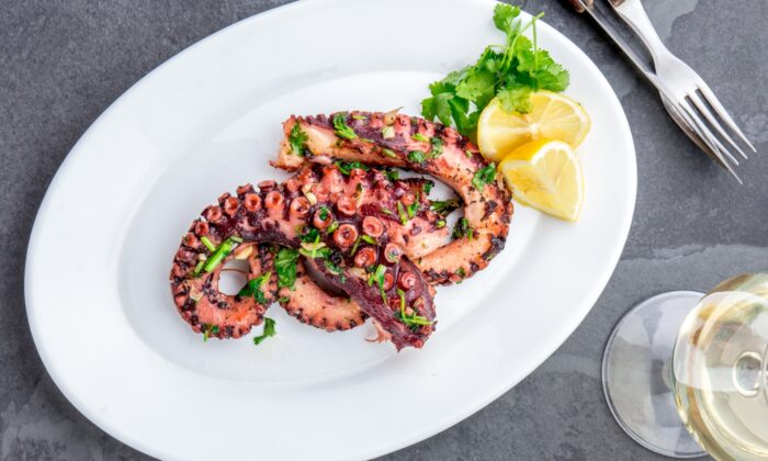 Grilled octopus is a favorite Greek meze. (Larisa Blinova/Shutterstock)