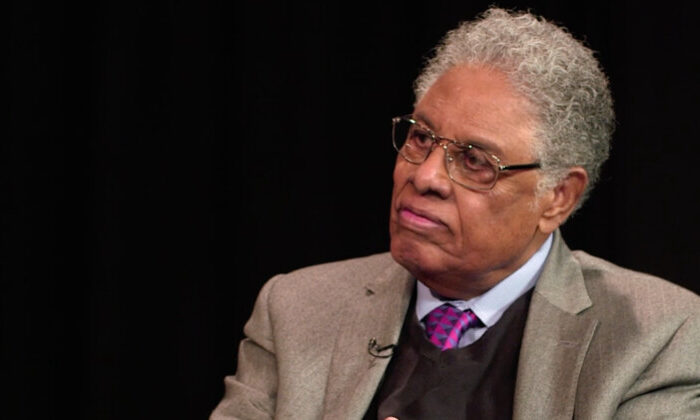 Thomas Sowell in 2018 at the Hoover Institute. (Hoover Institute/ YouTube)