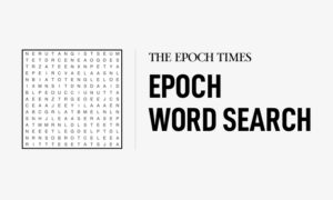 Bodies of Water: Epoch Word Search