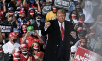 Trump Honors Two Football Players at Ohio Rally, Suspended for 'Thin Blue Line' Flag