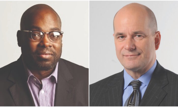 Journalists Stephen Henderson and Nolan Finley. (Courtesy of the Civility Project)