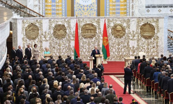 Alexander Lukashenko takes the oath 2