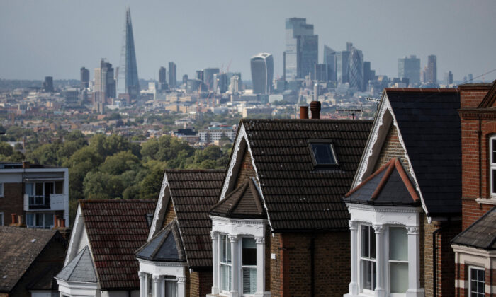 Rows of larger houses are shown in London on Aug. 5, 2020. The UK's housing market reopened in May after months of pandemic-related restrictions that largely halted the showing and selling of homes. (Dan Kitwood/Getty Images)