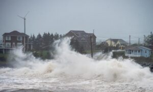 Post Tropical Storm Teddy Makes Landfall in Nova Scotia Bringing High Winds, Rain