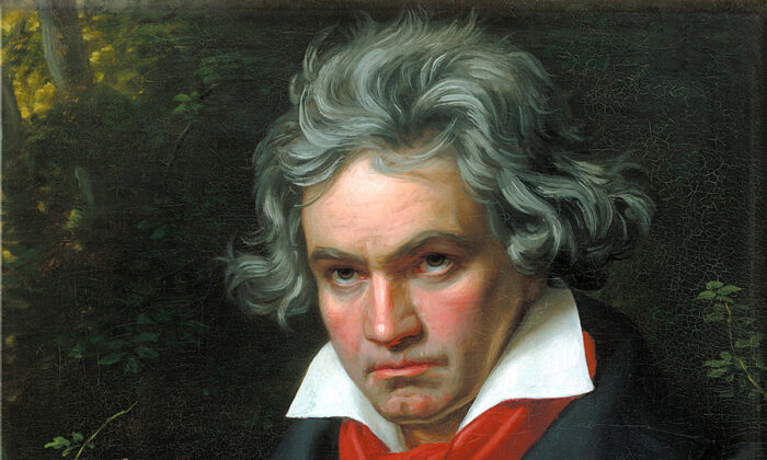 "Portrait of Ludwig van Beethoven when composing the ""Missa Solemnis,"" written to awaken religious feeling. (Public Domain)"