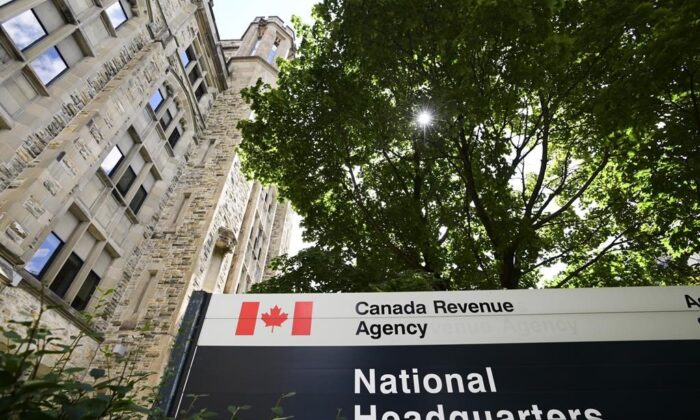 The Canada Revenue Agency (CRA) headquarters Connaught Building is pictured in Ottawa, on Aug. 17, 2020. (The Canadian Press/Sean Kilpatrick)
