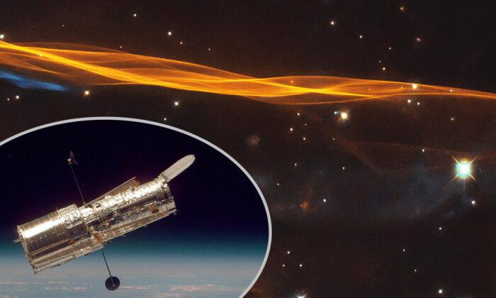 (ESA/Hubble & NASA, W. Blair; acknowledgment: Leo Shatz, Inset: NASA via Getty Images)