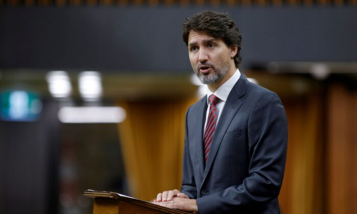 Canada's Prime Minister Justin Trudeau makes a speech in the House of Commons on Parliament Hill in Ottawa, on September 24, 2020. (Reuters/Blair Gable)