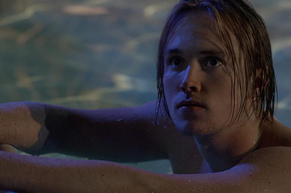 teenager in swimming pool