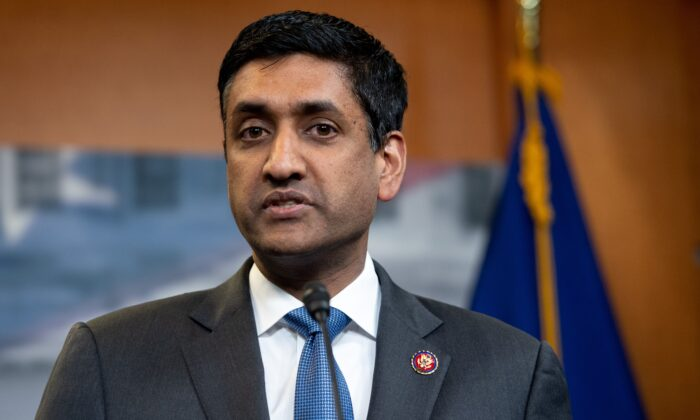 Rep. Ro Khanna (D-Calif.) speaks during a press conference in Washington on April 4, 2019. (Saul Loeb/AFP via Getty Images)