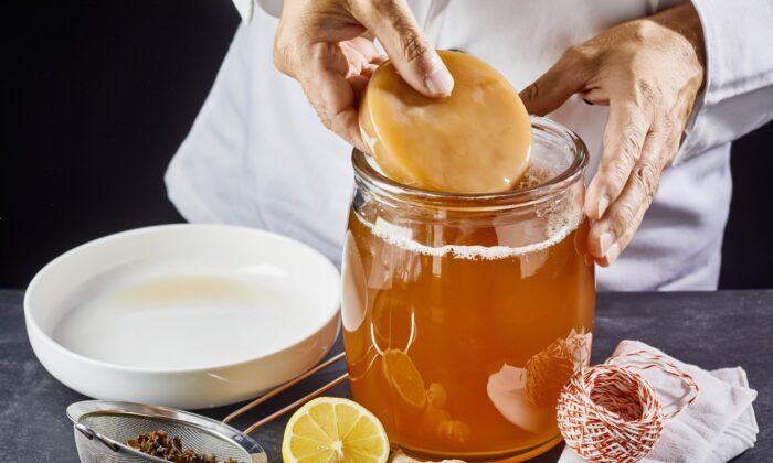 Kombucha is a lightly effervescent drink made from fermenting black or green tea. (stockcreations/Shutterstock)