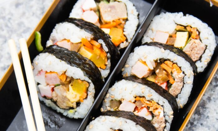 Kimbap can have all kinds of fillings, a kaleidoscope-like medley of different colors, textures, and flavors. (Von richardernestyap)