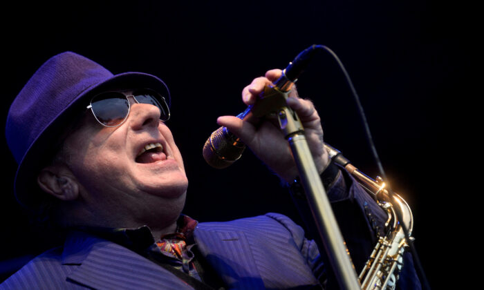 Northern Irish musician Van Morrison performs in Sondika, near Bilbao, northern Spain, on Jun 2, 2017. (Vincent West/Reuters)