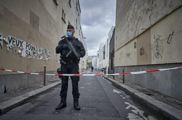 Paris On Standby After Stabbing At Former Charlie Hebdo Offices