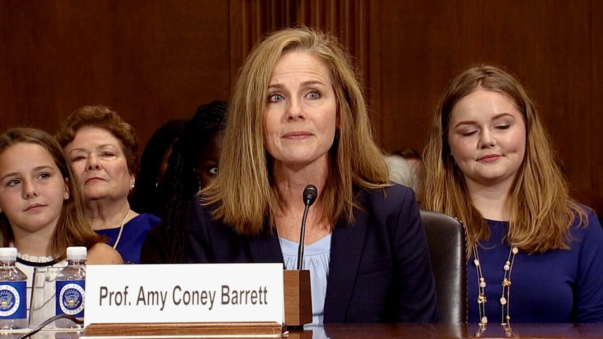 Judge Amy Coney Barrett at confirmation hearing