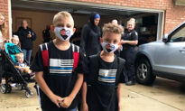 Convoy of Police Officers Show Up to Escort Sons of Fallen Officer on First Day of School