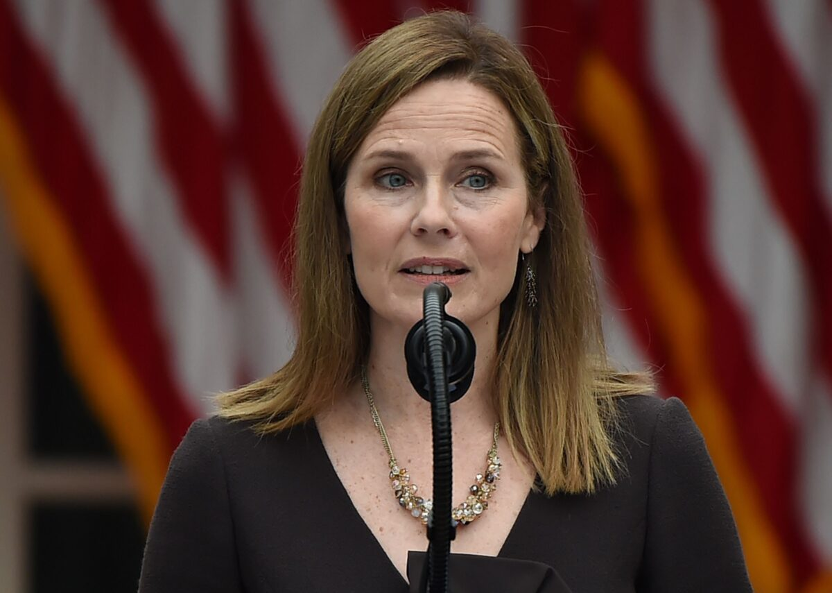 Judge Amy Coney Barrett speaks