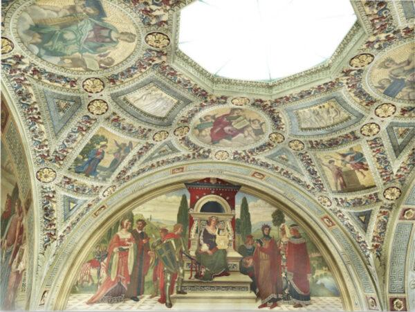 Rotunda ceiling paintings.