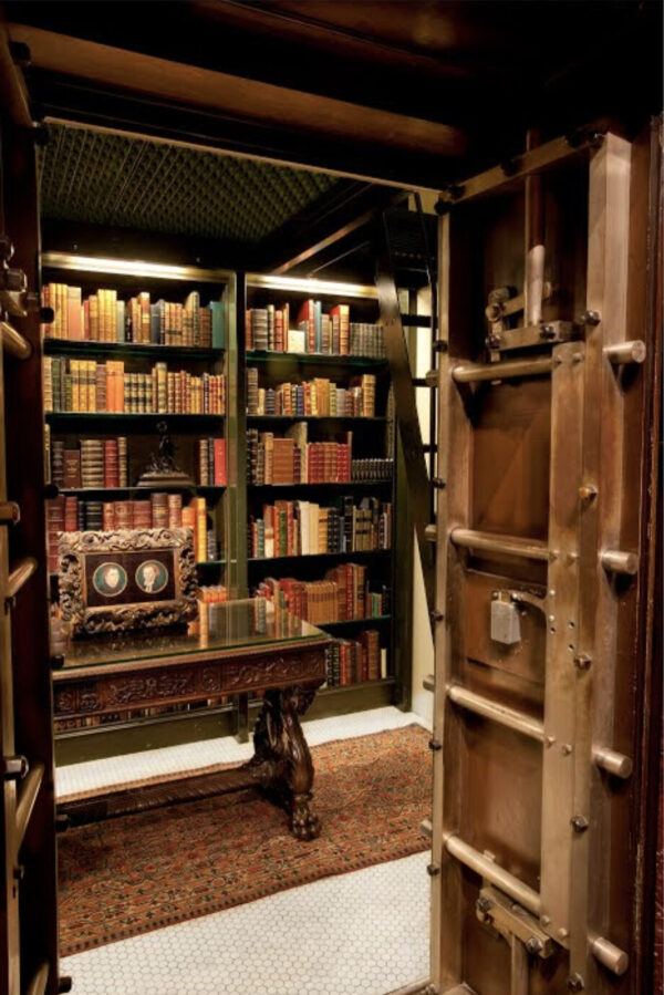 the vault of valuable books at the Morgan Library