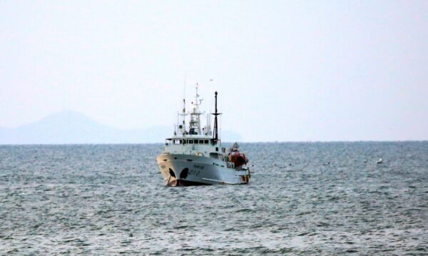 South Korea's government ship for a fishery guidance