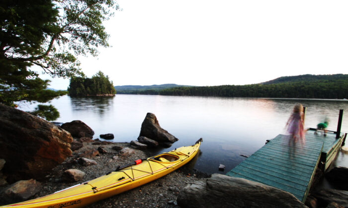Water play ends for the day at Rangeley Lake in Maine. (Courtesy of Jeffrey Halcombe/Dreamstime.com)
