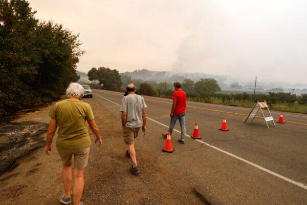 Evacuated residents