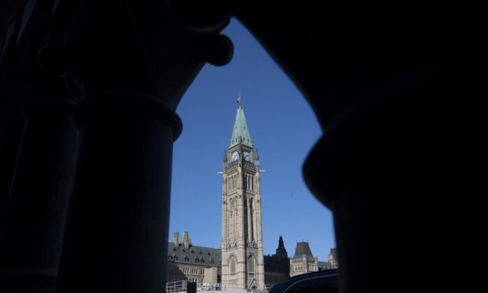 The first-ever electronic vote took place in the House of Commons on Parliament Hill in Ottawa, Canada on Sept. 28, 2020. (The Canadian Press)