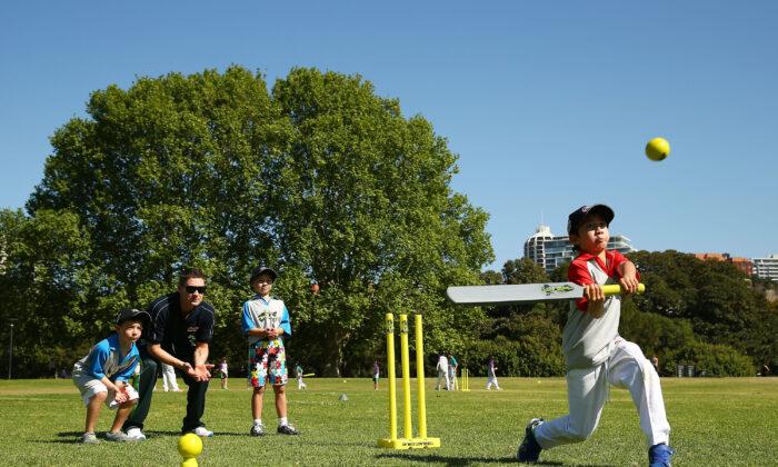 Children playing cricket. (Matt King/Getty Images)