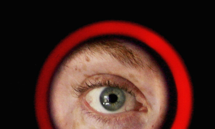An iris-recognition device is operated at Argus Soloutions August 11, 2005 in Sydney, Australia. (Ian Waldie/Getty Images)