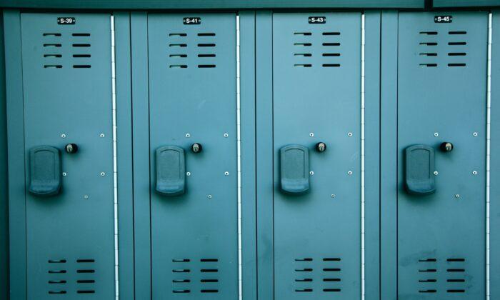 Stock image of a locker room. (Unsplash)
