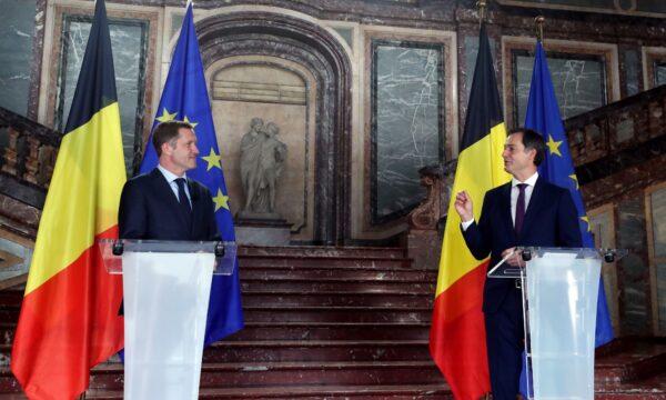 Belgian Alexander De Croo and Paul Magnette
