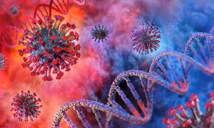Over 4,000 variants of the CCP virus, also known as SARS-CoV-2 or the novel coronavirus, have been identified across the globe. (Corona Borealis Studio/Shutterstock)
