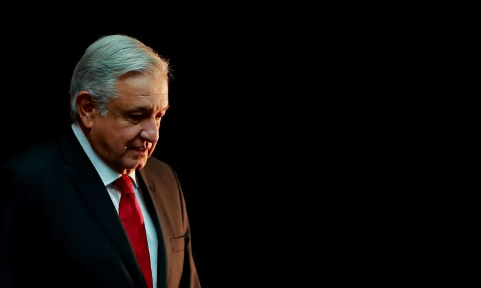 Mexican President Andres Manuel Lopez Obrador is seen during a state visit to the Palacio Nacional in Mexico City, Mexico, on Oct. 17, 2019. (Hector Vivas/Getty Images)